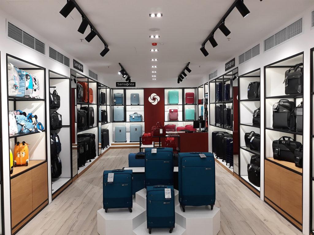 Реализация на проекти - Самсонайт магазин Делта Планет Мол Варна